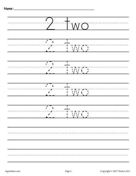 number tracing worksheets   supplyme