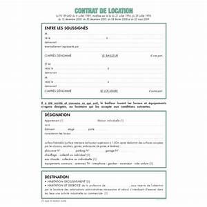 contrat de location maison individuelle non meublee With contrat de location chambre meublee