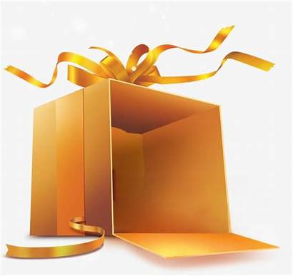 Gift Open Clipart Clip Boxes Golden Gifts