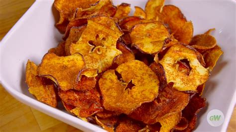 apple chips air fryer easy fried snack recipes gowise