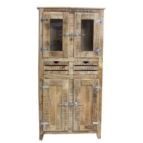 armoire 2 portes frigo bois naturel achat vente armoire de chambre pas cher couleur et design fr