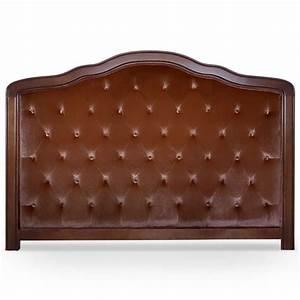 Tete De Lit Marron : t te de lit capitonn e velours marron et cadre en bois couchage 90 x 190 cm ~ Preciouscoupons.com Idées de Décoration