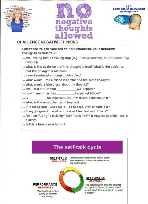 cbt therapy worksheet cognitive behaviour therapy