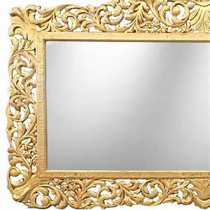Miroir Style Baroque : enorme miroir de style baroque en bois dor ~ Teatrodelosmanantiales.com Idées de Décoration