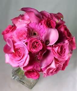 Hot Pink Wedding Flowers Bridal Bouquet