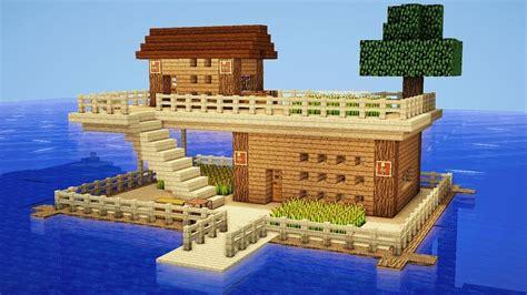 minecraft   build  survival house  water house tutorial razorxgamer