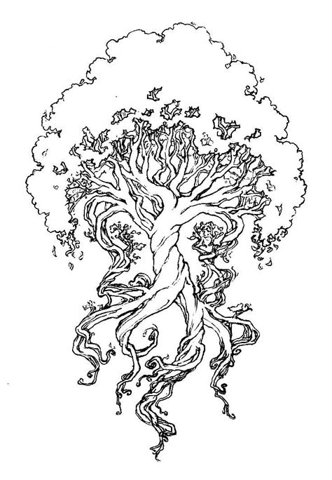 tree with body under roots - Google Search | Coloring pages, Life tattoos, Adult coloring