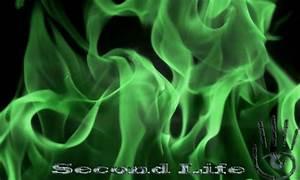 SL Green Flames wallpaper - Second Life Wallpaper