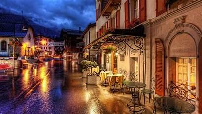 Wallpapers Town Night Oldtown Lights Switzerland