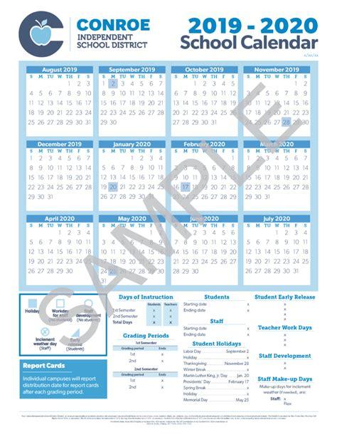 school calendar process conroe isd