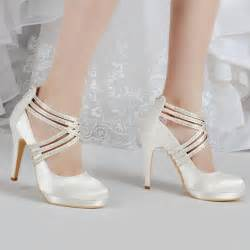 wedding shoes ivory aliexpress buy shoes ep11085 pf ivory white shoes high heel rhinestones