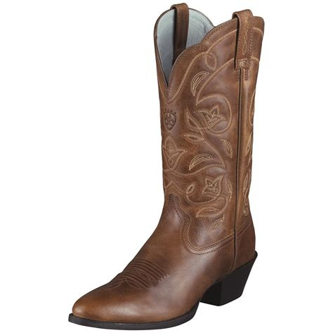 womens boots toe 39 s ariat 12 quot heritage r toe cowboy boots 282502 cowboy boots at