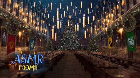 Harry Potter Castle Wallpaper Christmas At Hogwarts Great Hall Harry Potter 1 Hour Holiday Music Asmr Magical Soundscape
