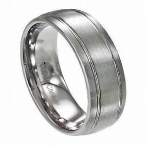 mens cobalt chrome wedding band satin finish domed face With cobalt chrome men s wedding rings