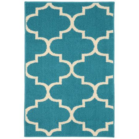 Teal Rug Walmart by Quatrefoil Teal Ivory 30 Quot X 46 Quot Living Room Area Rug