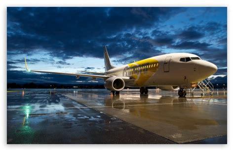 Airplane In The Evening Light 4k Hd Desktop Wallpaper For