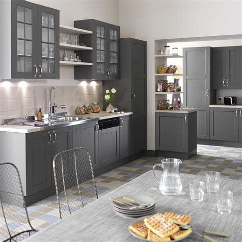 image meuble de cuisine meuble de cuisine gris delinia nuage leroy merlin