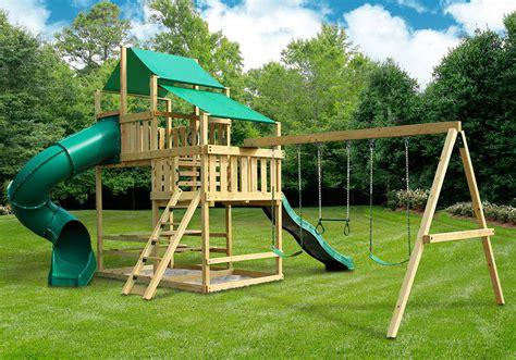 backyard jungle metal frontier fort with swing set diy kit swingsetmall com