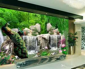 Natural Scenery Wallpaper Custom 3D Photo Wallpaper ...