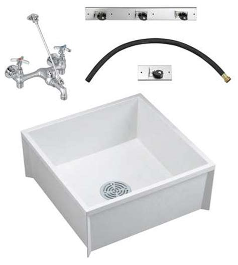 Mop Sink Faucet Dimensions by Fiat Products Mop Sink Kit With Faucet Bowl Size 23 3 4