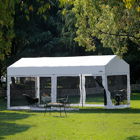 easy pop  canopy party tent heavy duty garage car shelter white  removable