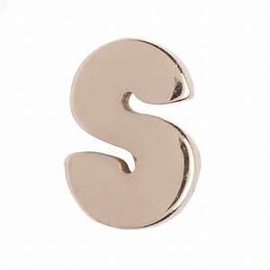 letter earring lenawald With white gold letter earrings