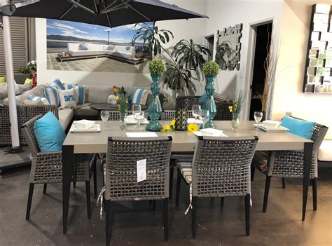 genval dining table ratana luxury patio set vancouver