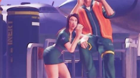 street fighter  video shows background character playing