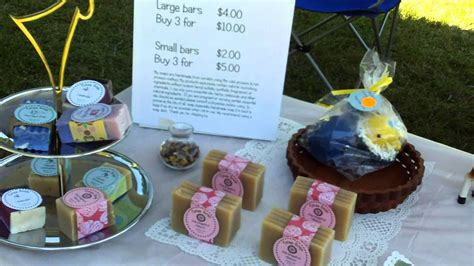 craft shows me time selling my soap at the craft fair 4054