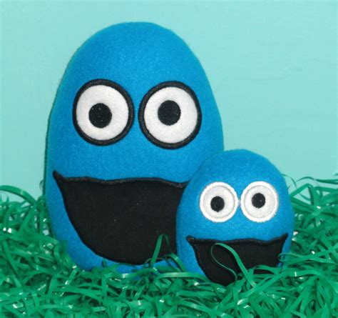 Cookie Monster Egg Head Ith Embroidery Design  Uncle Matt