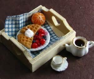 Breakfast Mini Food Sculptures