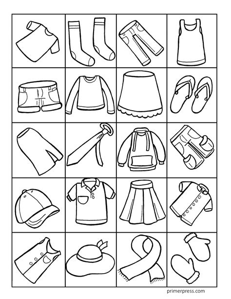 coloring cloth clothing coloring pages for preschoolers collection