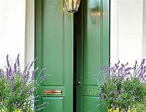 Feng Shui Of Front Door Colors Green And Brown