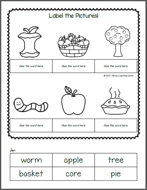 apple worksheets mamas learning corner