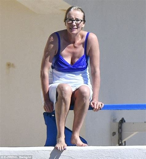 emma thompson swimsuit emma thompson takes a break from the cannes film festival