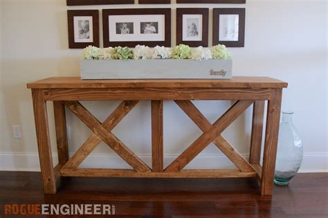 how to a console table diy x brace console table free plans rogue engineer