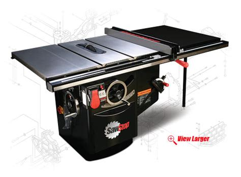 sawstop cabinet saw used sawstop s 10 quot cabinet revolutionizes table saw safety
