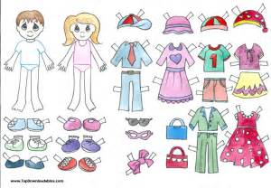 Printable Paper Doll Template Boy and Girl