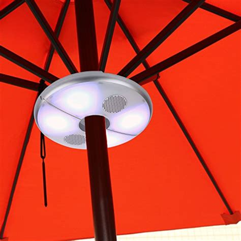 patio led umbrella light bluetooth speaker color changing
