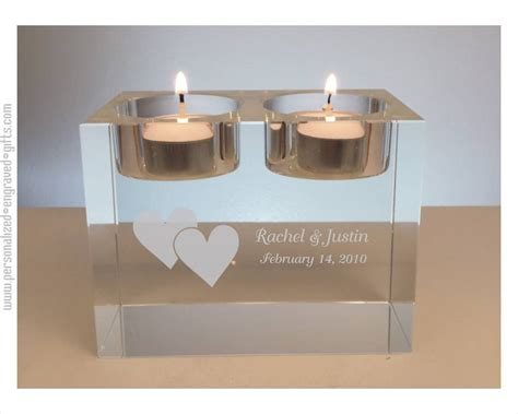 Engraved Glass Candles