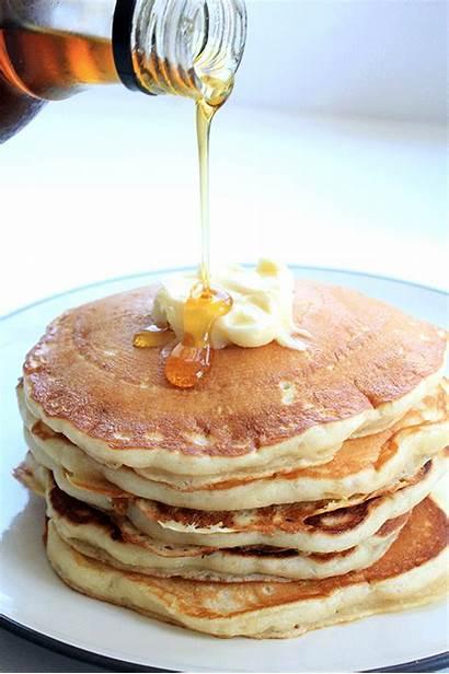 Pancakes Syrup Buttermilk Pancake Canadian Living Recipe