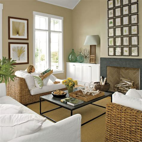 coastal livingroom after easy and casual living room 20 amazing living room makeovers coastal living