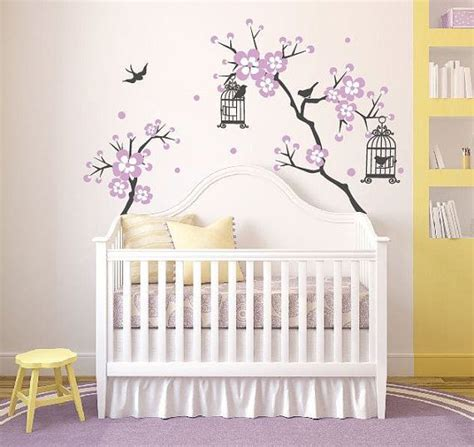 stickers chambre bebe fille fee baby room decor cherry blossom tree wal decal wall decals for nursery wall sticker