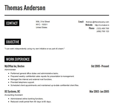 how to create a resume resume cv exle template