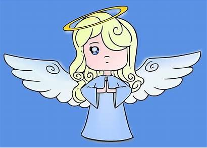 Angel Cartoon Clipart Cherub Drawing Halo Heaven