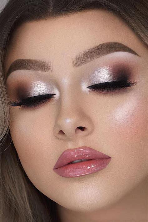 attractive bride makeup ideas silver makeup blush makeup makeup