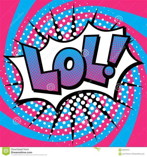 pop art lol text design stock vector image  colorful