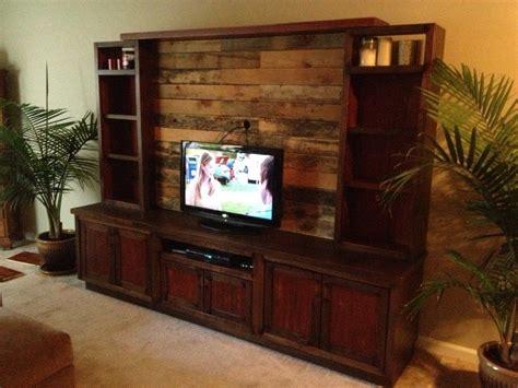 handmade custom entertainment center  pallet wood