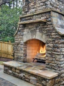 Building Stone Fireplace by How To Build An Outdoor Stacked Stone Fireplace Hgtv