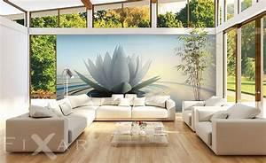Wohnzimmergestaltung Mit Tapeten : lilie auf dem wasser fototapete f rs wohnzimmer wohnzimmer tapeten von fixar fototapeten ~ Sanjose-hotels-ca.com Haus und Dekorationen